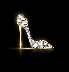 abstract jewelry shoe vector image vector image