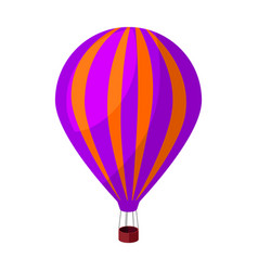 Air balloon for walking transport works on warm vector