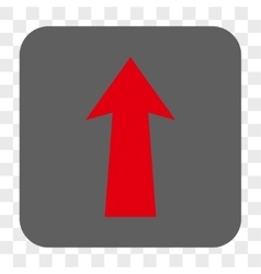 Arrow up rounded square button vector