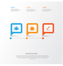 Business icons set collection of pen group vector