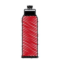 Color crayon stripe image sports bottle for vector