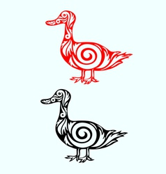 Duck ornate vector