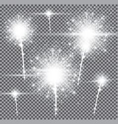 fireworks on transparent background vector image vector image
