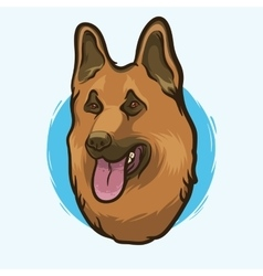 German Shepherd Dog Breed vector image