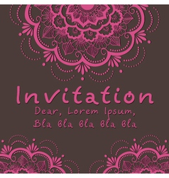 Indian wedding invitation vector image