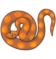 Long crawling snake or boa vector