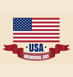 memorial day card vector image