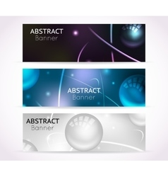 Nuclear atom banners Nanotechnologies and vector image vector image