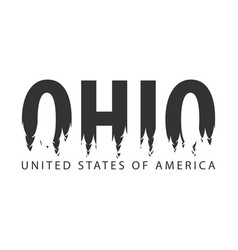 Ohio usa united states of america text or vector