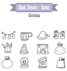 On white backgrounds christmas icon set vector