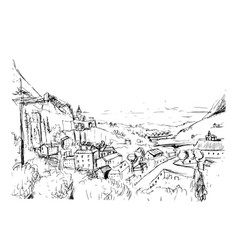 remarkable georgian landscape sketch black and vector image vector image
