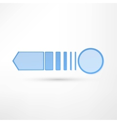 - pure white arrow vector image vector image