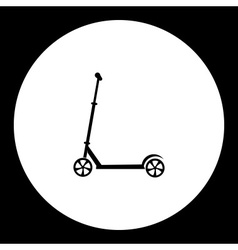 Small scooter sport item black simple icon eps10 vector