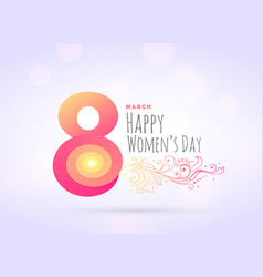 Creative womans day greeting background with vector