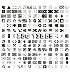 180 tiles geometric and ornamental seamless vector image vector image