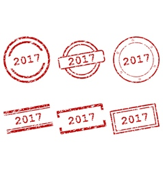 2017 stamps vector image vector image