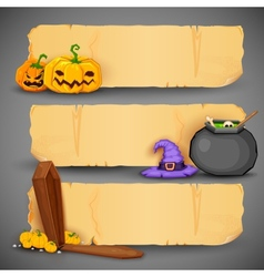 Happy halloween header and banner vector