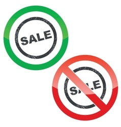 Sale permission signs set vector