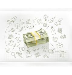 Money business infographics vector image