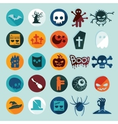 Set of halloween icons vector