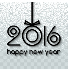 Happy new year 2016 creative black snowing vector
