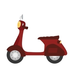 Scooter motorcycle vehicle icon vector