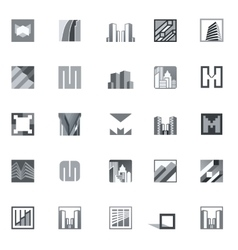 Abstract Building Icons vector image vector image