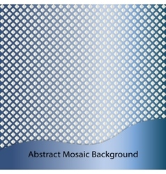 Blue steel abstract mosaic background vector