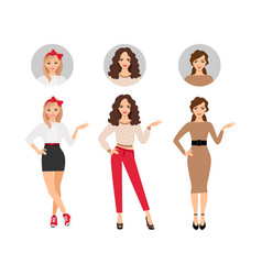 Casual fashion women set vector