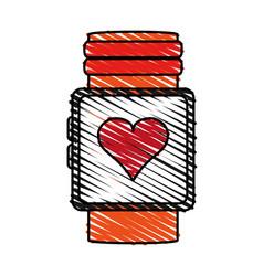 Color crayon stripe image smartwatch with vector