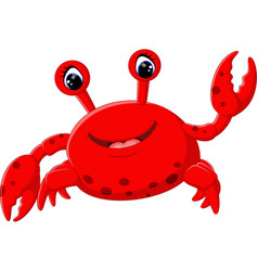 cute crab cartoon vector image