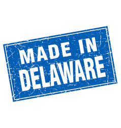 Delaware blue square grunge made in stamp vector