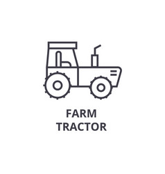 Farm tractor line icon outline sign linear vector
