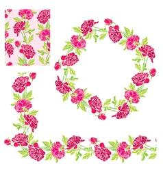 flower frame 5 380 vector image vector image