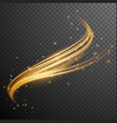gold glitter wave vector image vector image