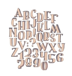 Large collection with handdrawn alphabet with vector image