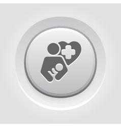 Life care icon grey button design vector
