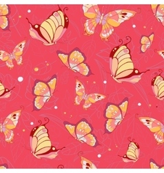 Pattern of butterflies vector image