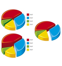 pie chart graph vector image vector image