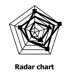 Radar chart icon simple style vector
