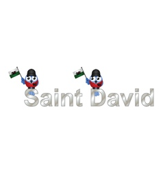Saint David vector image vector image