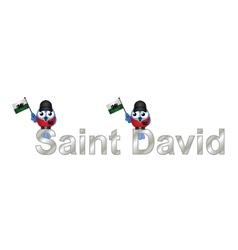Saint david vector
