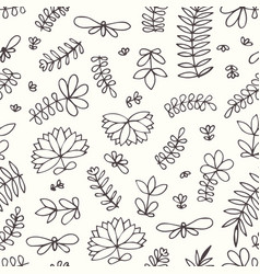 seamless pattern with small stylized flowers and vector image