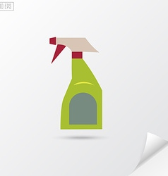 Spray bottle in flat style disinfect spray vector