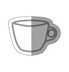 Sticker silhouette porcelain cup utensil kitchen vector