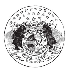 The official seal of the us state of missouri in vector