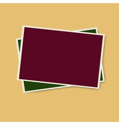 Two photo frames isolated vector image vector image