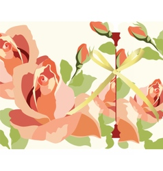 Watercolor Red Roses Card vector image vector image