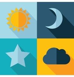Weather set icon eps10 vector