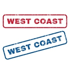 West coast rubber stamps vector